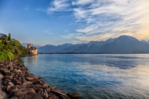 mont blanc with geneva lake