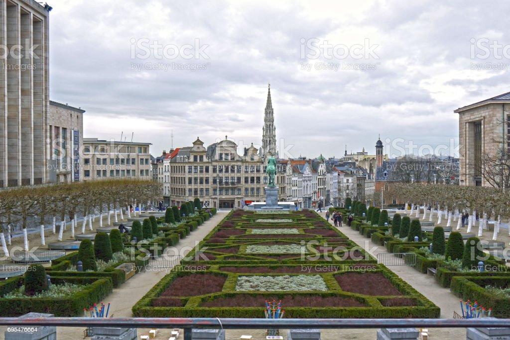 Mont des Arts, Brussels. BELGIUM. stock photo