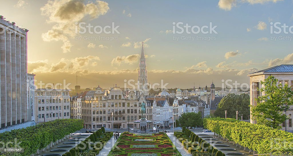 Mont des Arts stock photo
