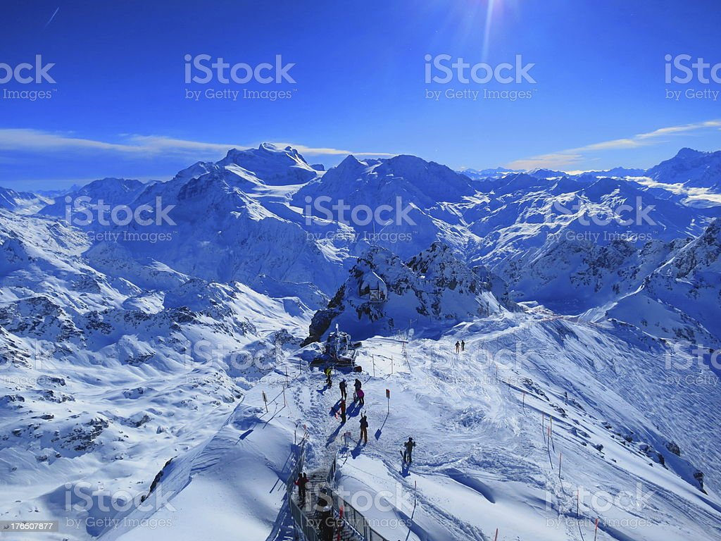 Mont Fort, Verbier, Switzerland royalty-free stock photo