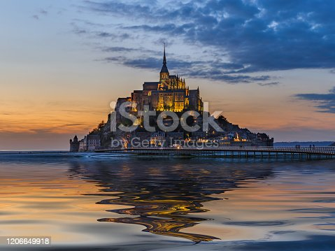 istock Mont Saint Michel Abbey - Normandy France 1206649918