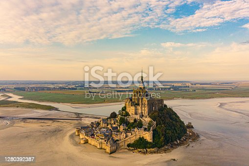 istock Mont Saint Michel at sunset Normandy France 1280392387