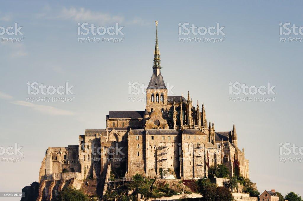 Mont Saint Michel castle stock photo