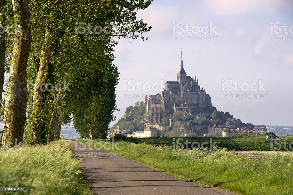 Mont saint Michel in Normandy - France stock photo