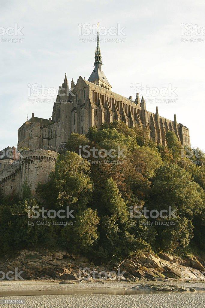 Mont Saint Michel. North face. stock photo