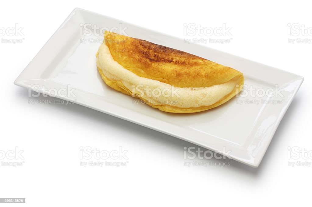 mont saint michel style omelet royalty-free stock photo