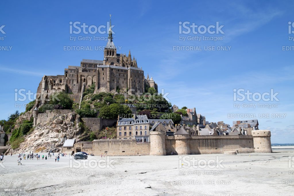 Mont Saint Michele on a small island, France stock photo