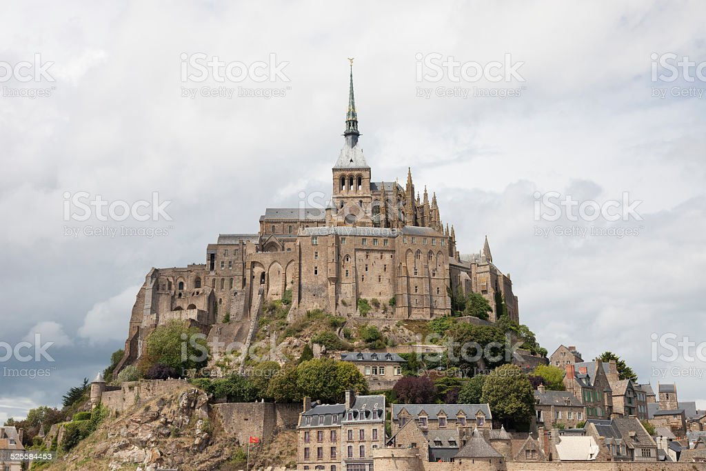 Mont Saint-Michel in France stock photo