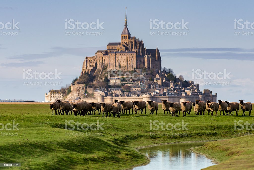 Mont Saint -Michel stock photo