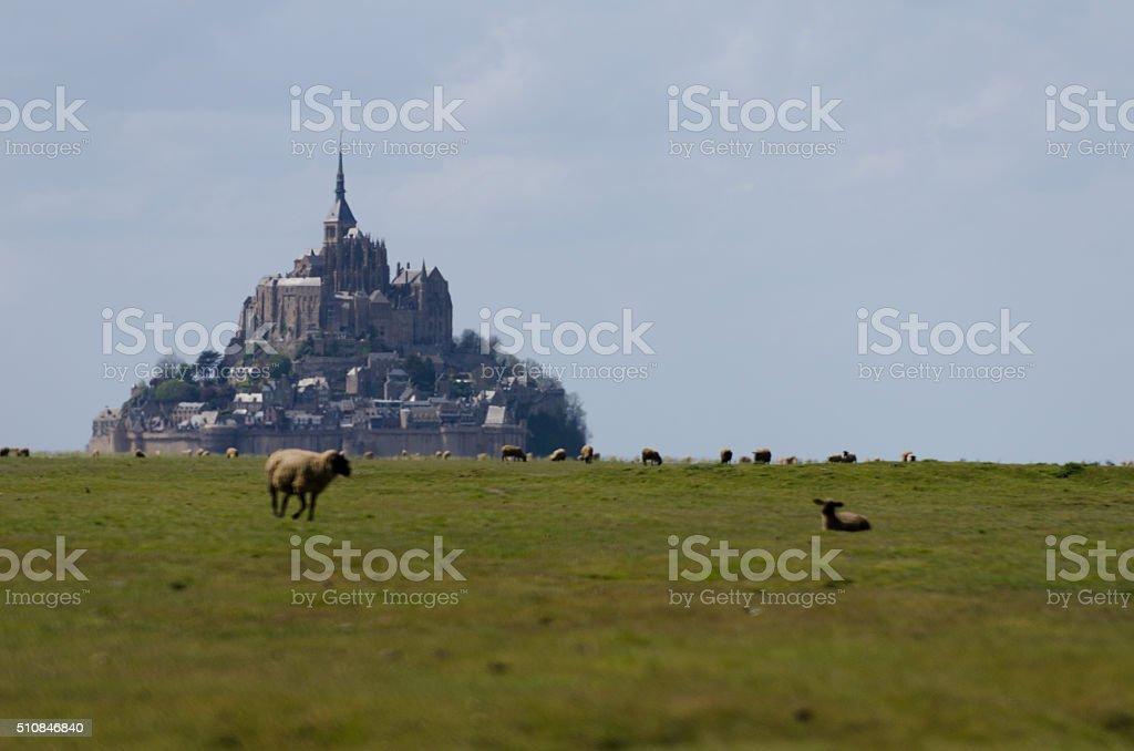 Mont St Michel stock photo