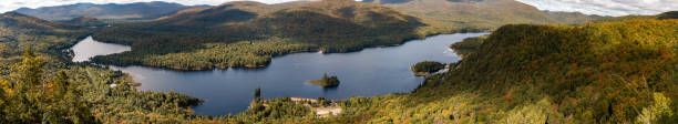 Mont tremblant national park in Quebec. Multiple angles in series stock photo