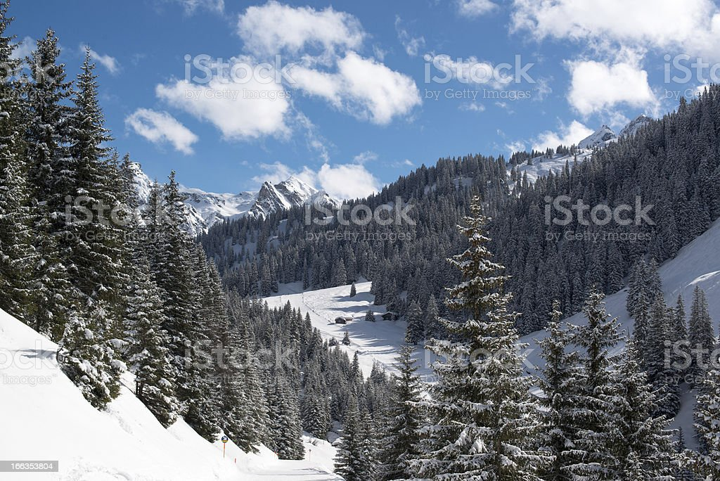 Montafon skiing valley royalty-free stock photo