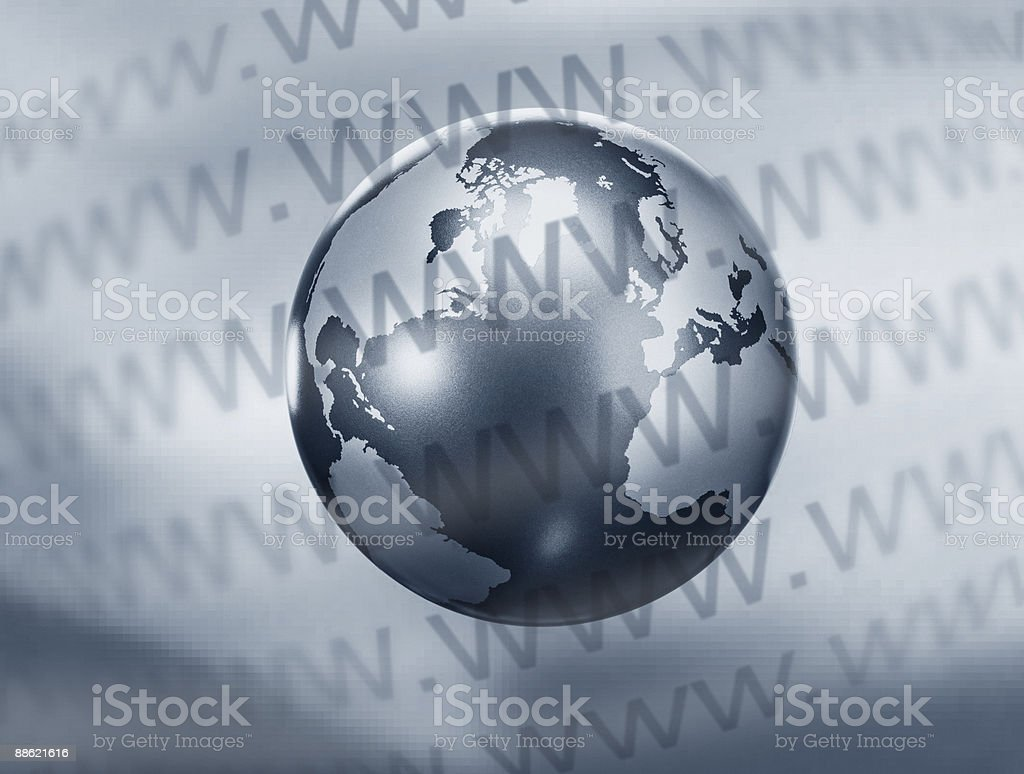 Montage of globe and www text royalty-free stock photo