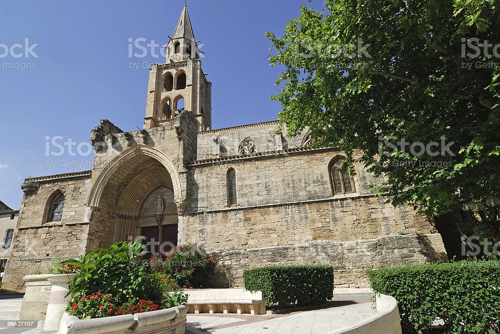 Montagnac (Herault, Languedoc-Roussillon, France) - Gothic church exterior royalty-free stock photo