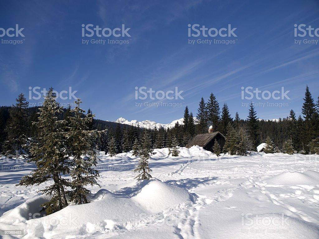 montain hut royalty-free stock photo