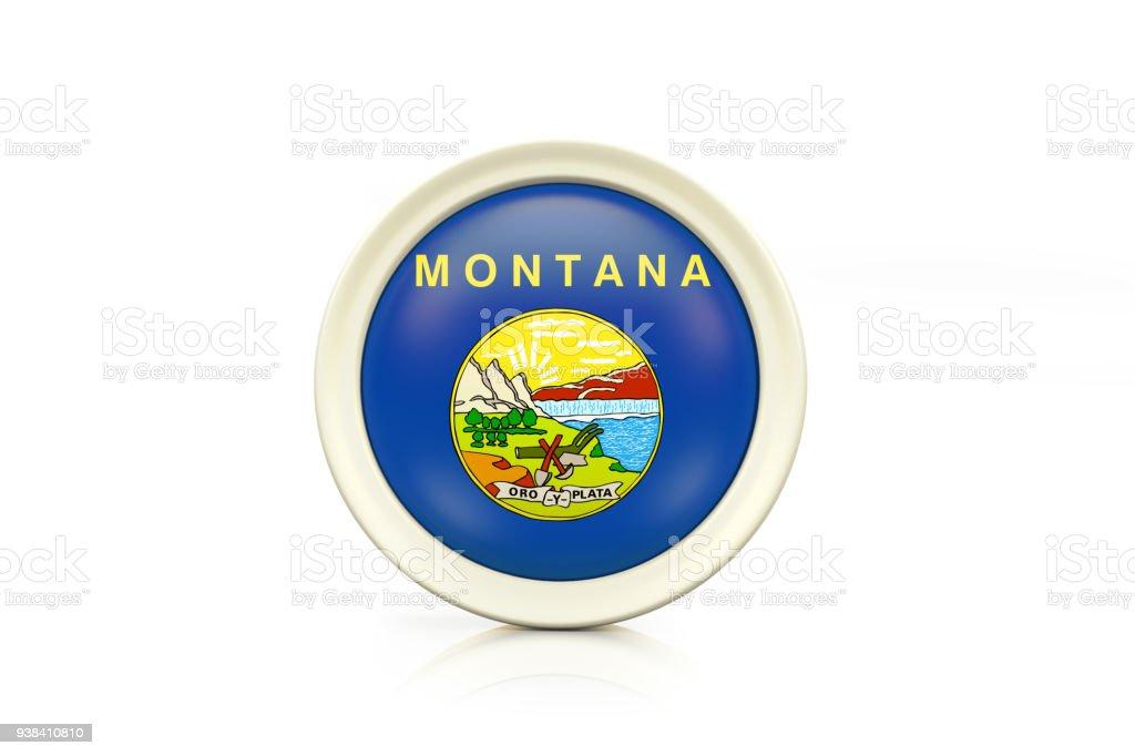 Distintivo de Montana em fundo branco - foto de acervo