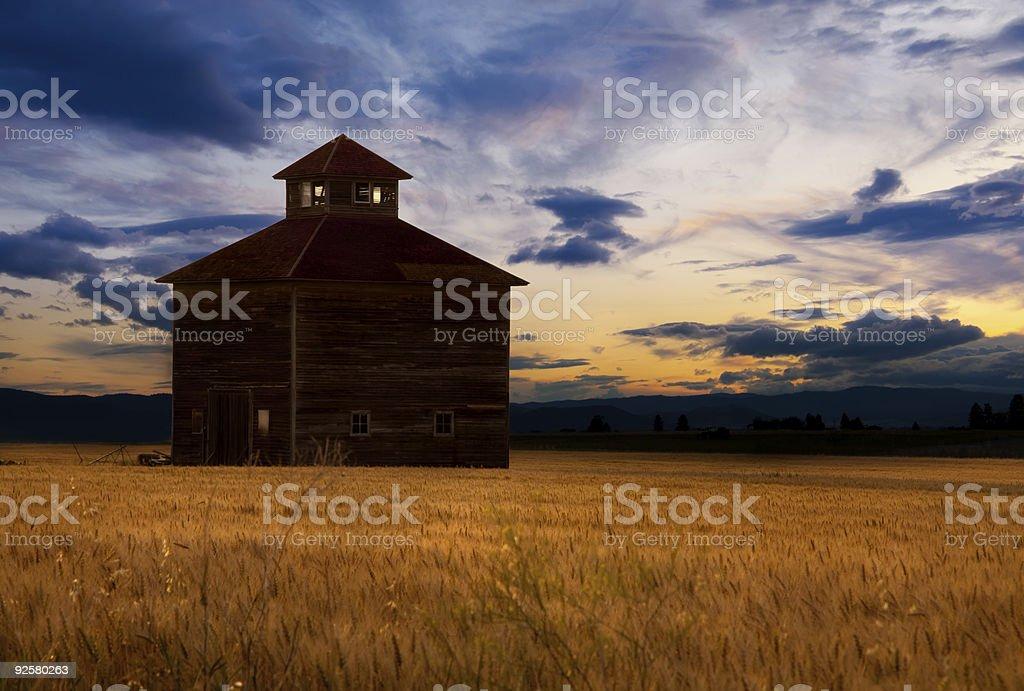 Montana Barns stock photo