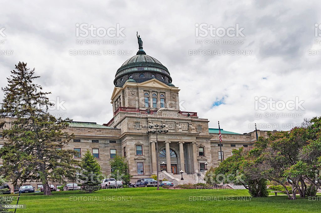 Montana Capital Helena stock photo