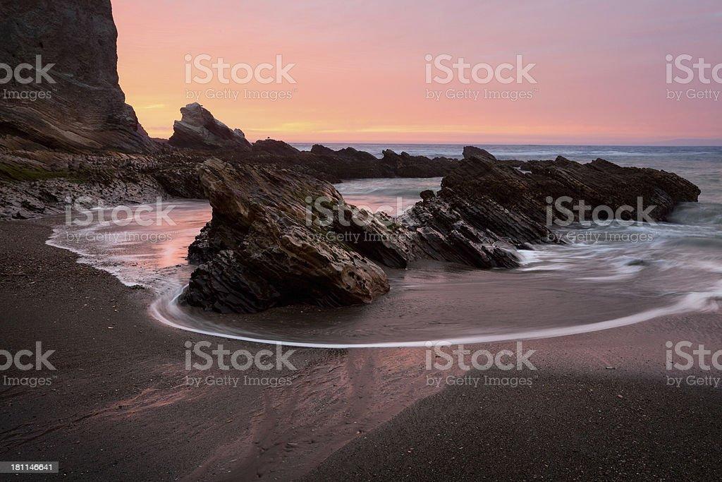 Montana De Oro State Park Beach Sunset royalty-free stock photo
