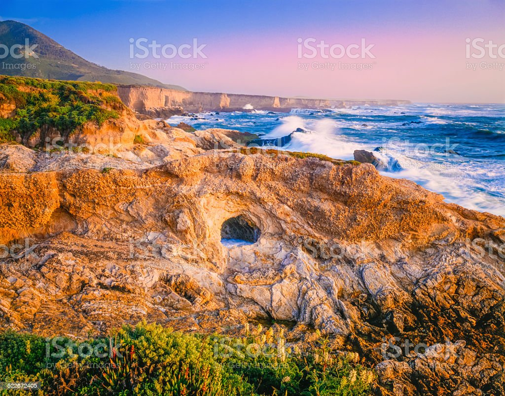 Montana De Oro State Park,shoreline,Pacific Ocean CA (P) stock photo