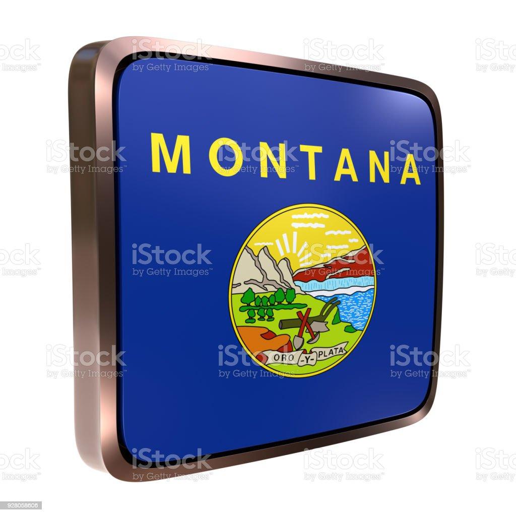 Montana flag icon stock photo