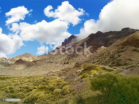 Rugged landscape of Montana Guajara in the Teide National Park, Spain
