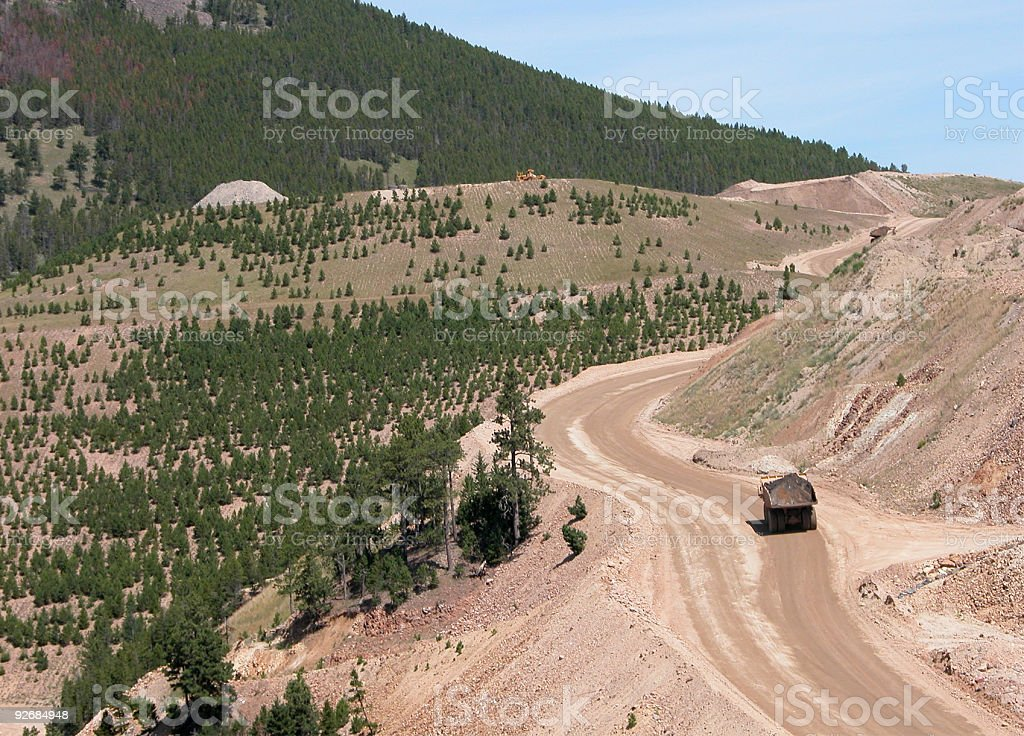 Montana Mining royalty-free stock photo