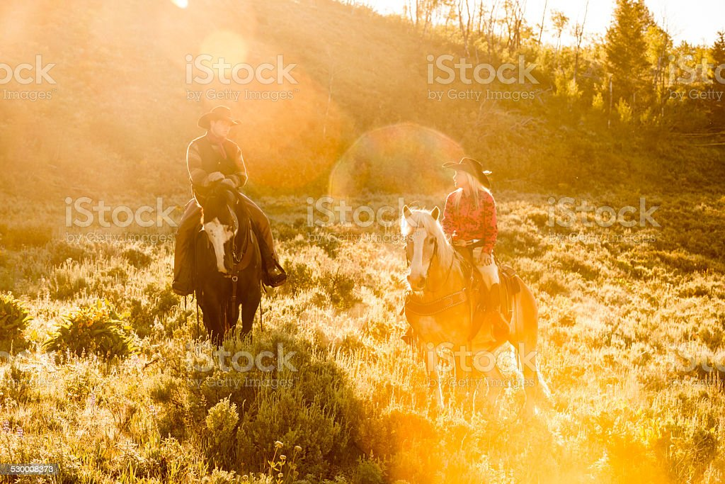 Montana Morning stock photo