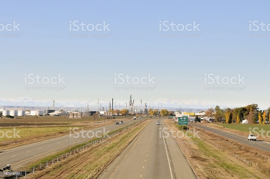 Montana Oil Refinery stock photo
