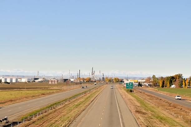 Montana Oil Refinery stock photo