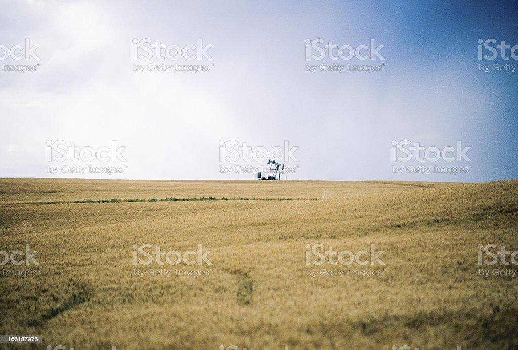 Montana Oil Rig stock photo