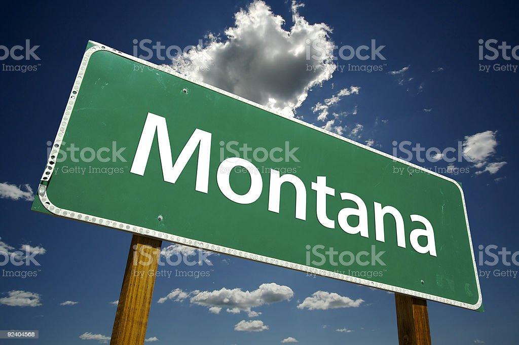 Montana Road Sign royalty-free stock photo