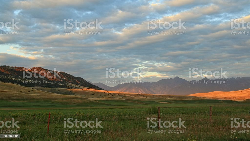 Montana Sunset stock photo