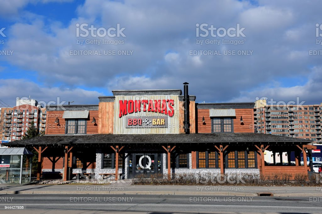 Montana's BBQ & Grill in Ottawa stock photo