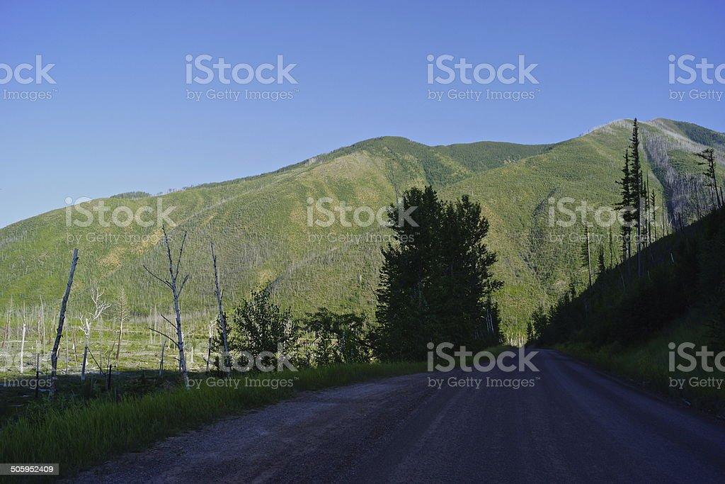 Montana's Huckleberry Mountain stock photo