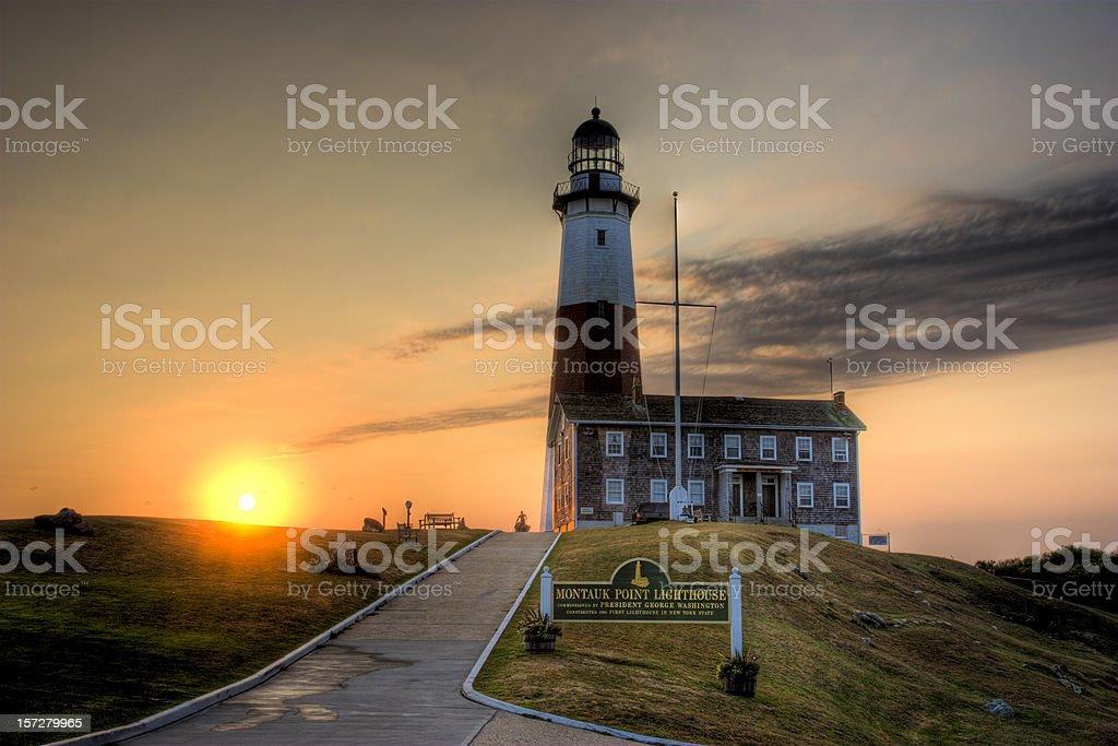 Montauk Sunrise (NY) royalty-free stock photo