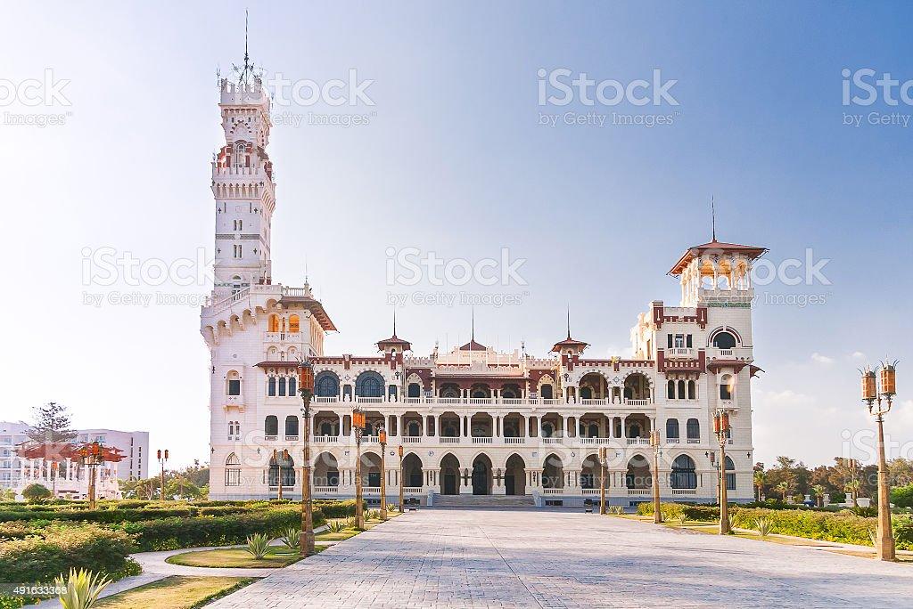 Montaza Palace em Alexandria, Egito. - foto de acervo
