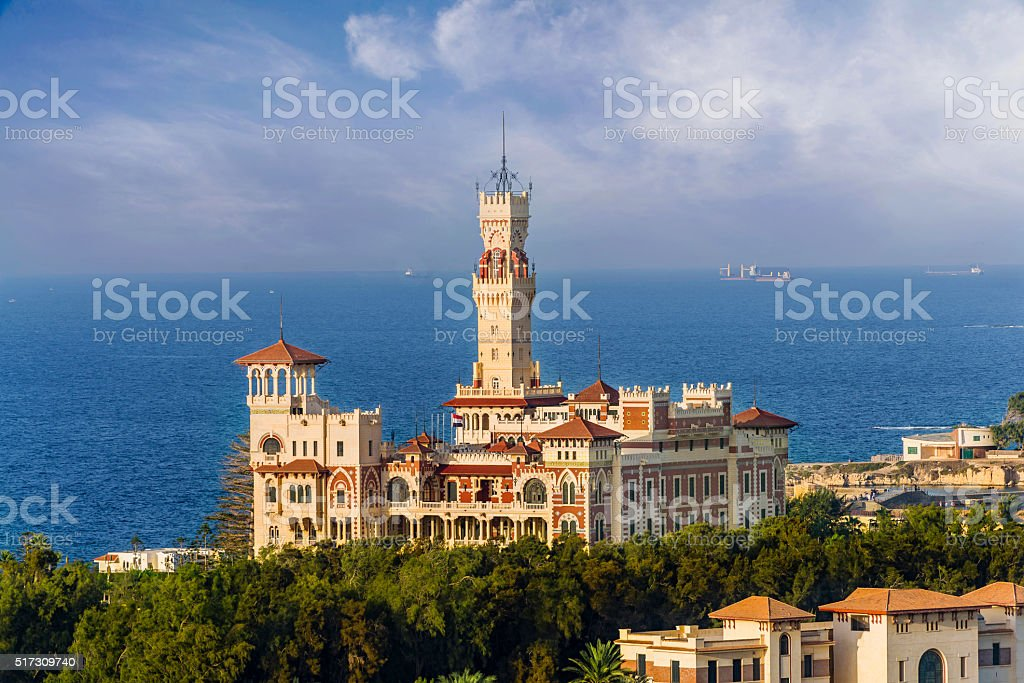 Montazah Palace, Alexandria stock photo