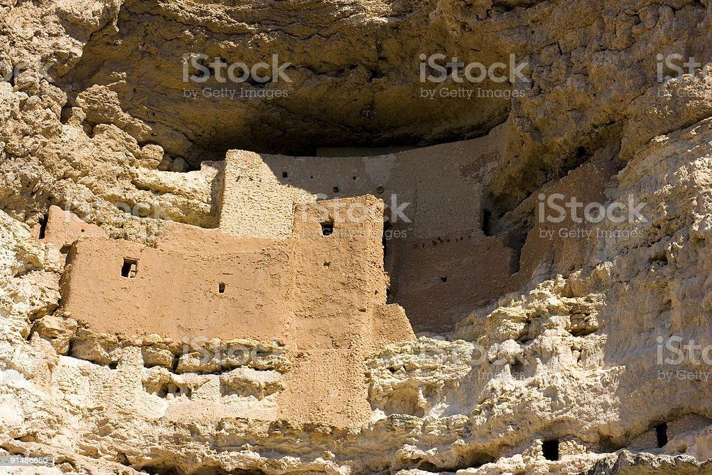 Montazuma's Castle royalty-free stock photo