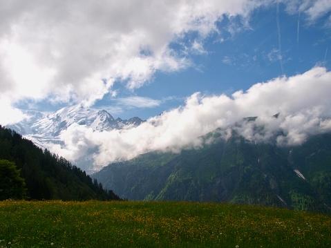 istock Mont-Blanc/Col de Voza,France 1003915912