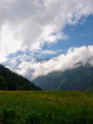 istock Mont-Blanc/Col de Voza,France 1003918058
