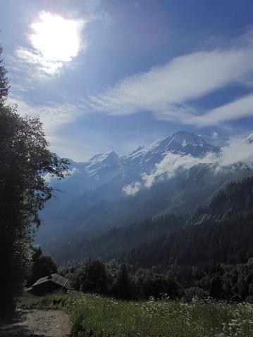 istock Mont-Blanc/Col de Voza,France 1003918252