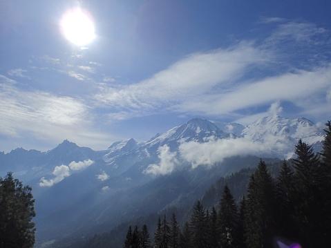 istock Mont-Blanc/Col de Voza,France 1003918386