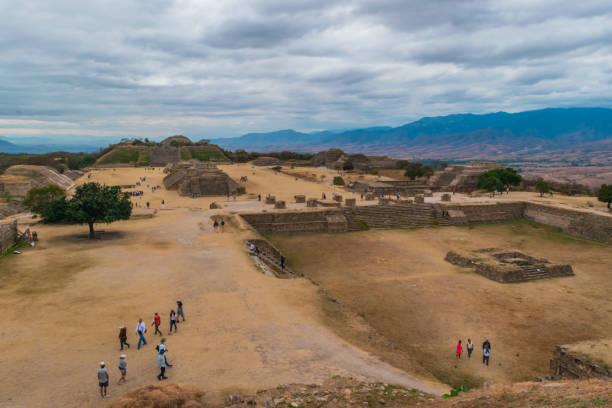 Monte Alban ruins stock photo