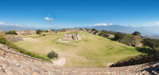 Monte Albán archaeological site, Oaxaca - Mexico stock photo