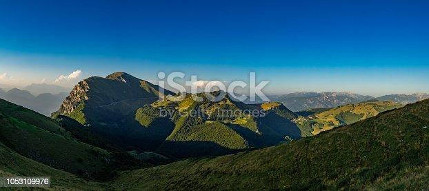 istock Monte Altissimo di Naga as seen from Monte Baldo surroundings 1053109976