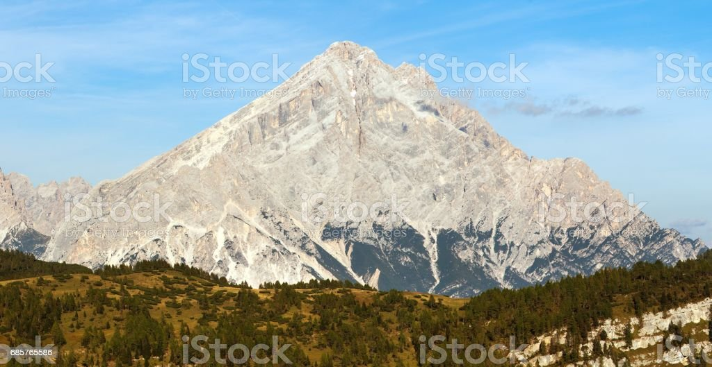 Monte Antelao, Zuid-Tirol, Dolomieten gebergte, Italië royalty free stockfoto