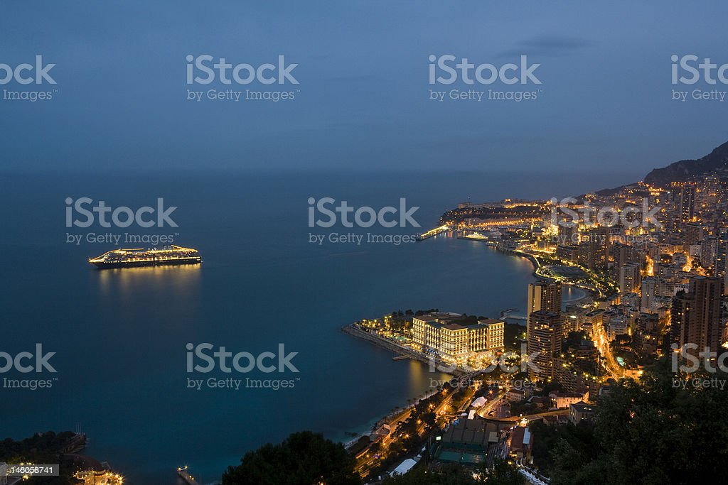 Monte Carlo at Dusk royalty-free stock photo