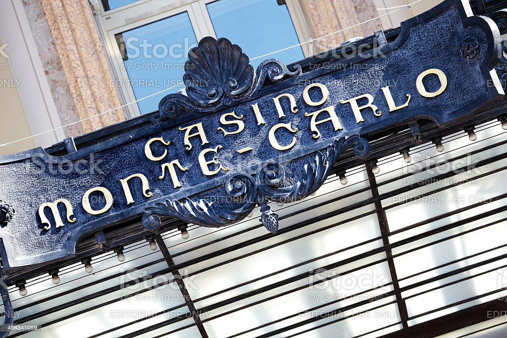 Monte Carlo casino front entrance canopy royalty-free stock photo