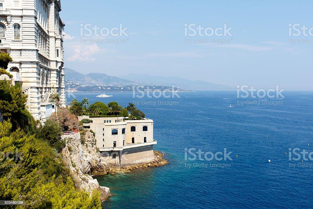 Monte Carlo harbor, Monaco stock photo